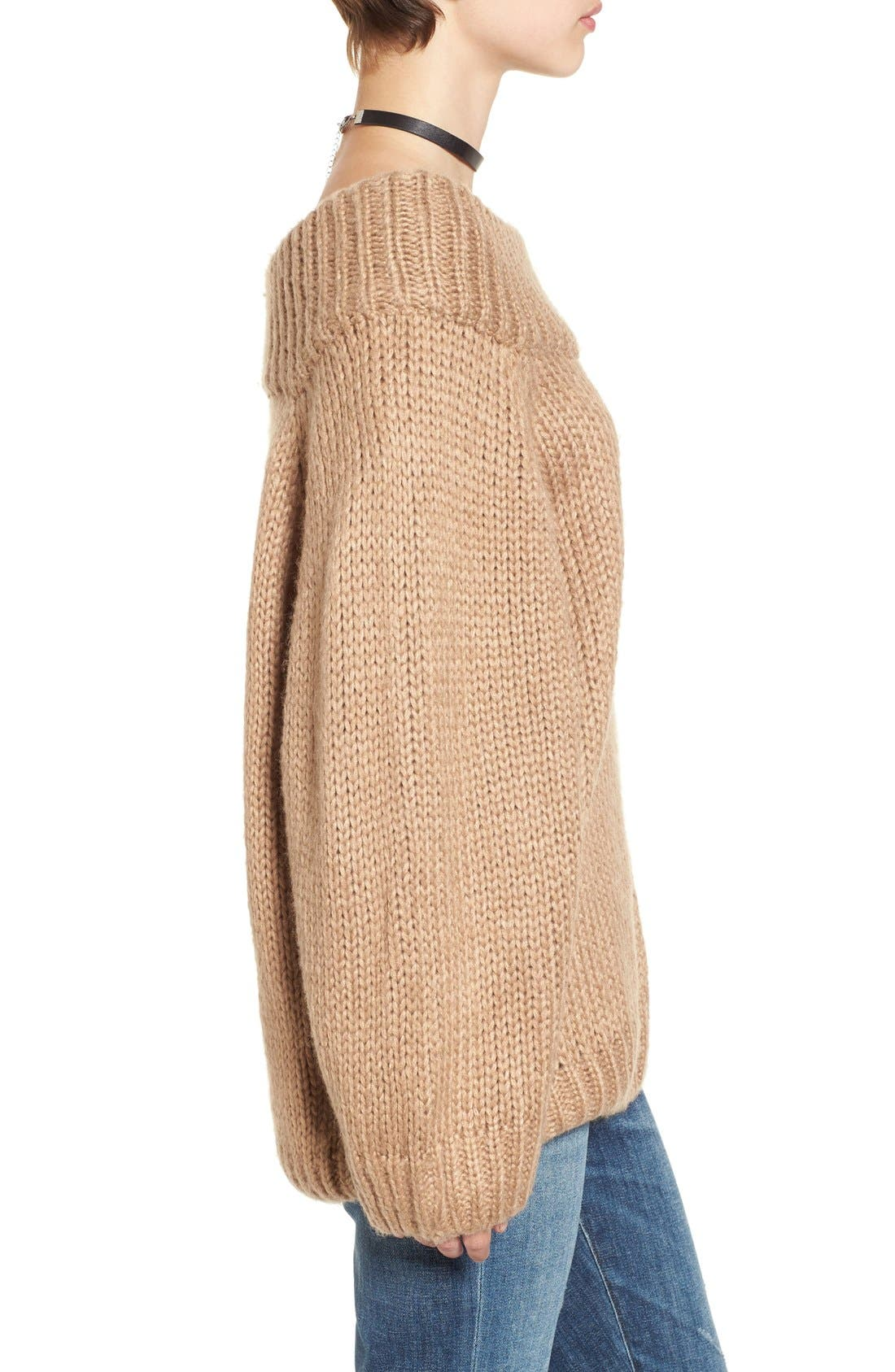 Alternate Image 4  - Cotton Emporium Off the Shoulder Knit Pullover