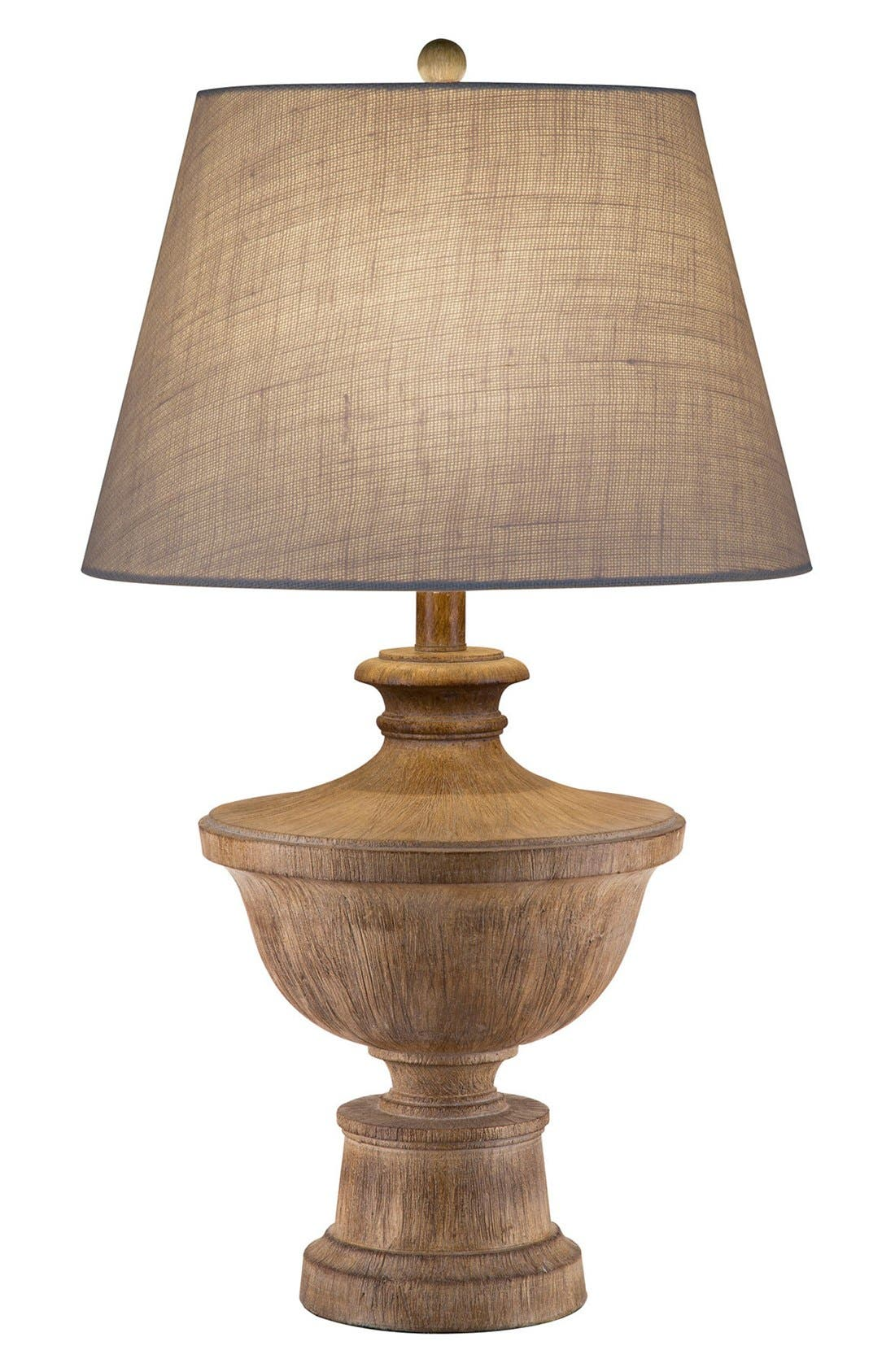 JAlexander Distressed Faux Wood Table Lamp,                             Main thumbnail 1, color,                             Brown