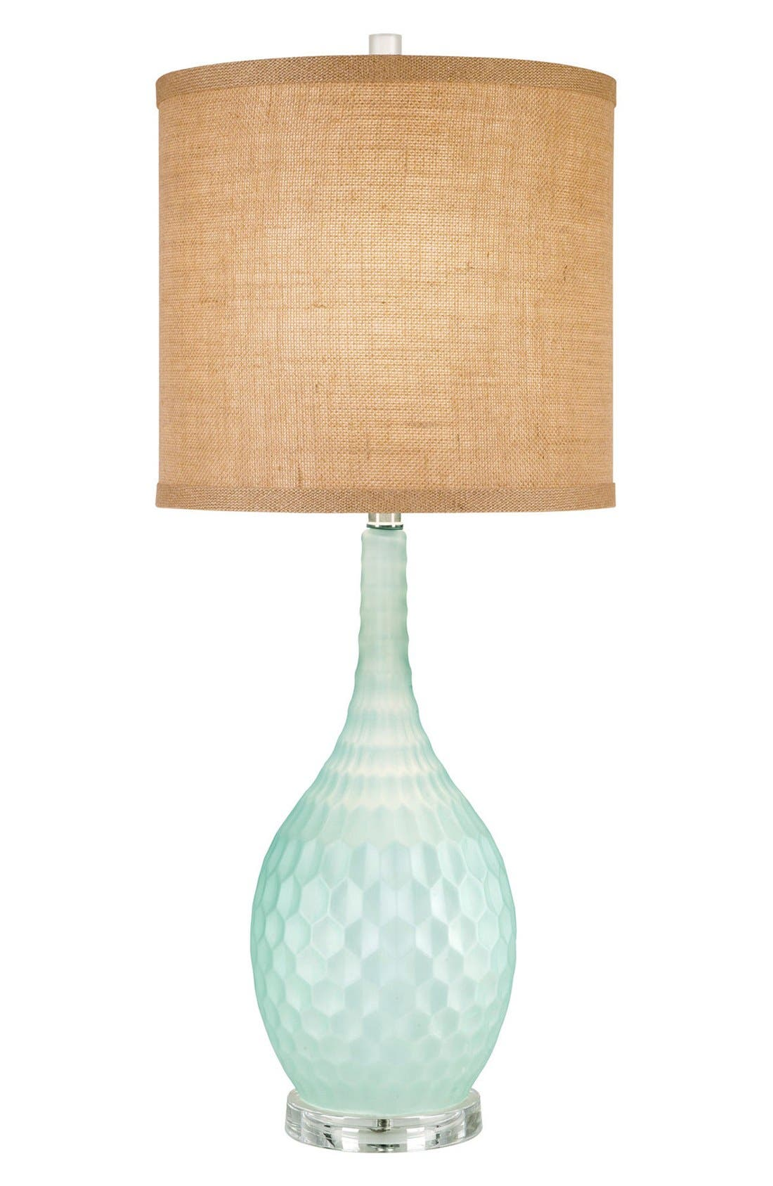 JAlexander 'Seafoam' Glass Table Lamp,                             Main thumbnail 1, color,                             Blue