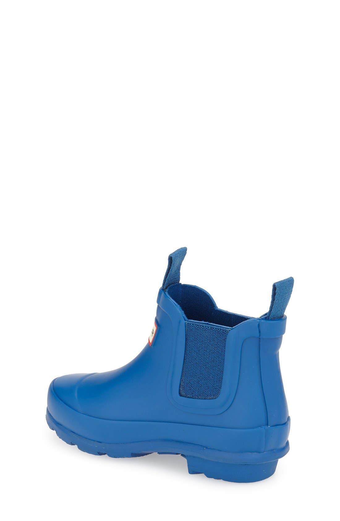 'Original' Chelsea Rain Boot,                             Alternate thumbnail 2, color,                             Azure