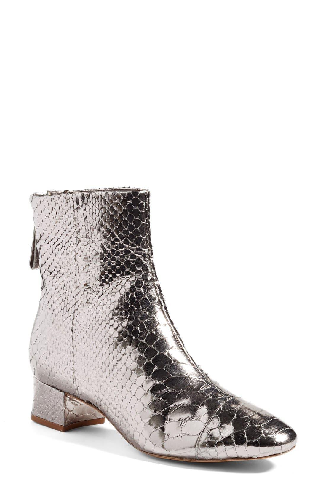Alternate Image 1 Selected - Alexandre Birman 'Jessie' Metallic Genuine Python Bootie (Women)