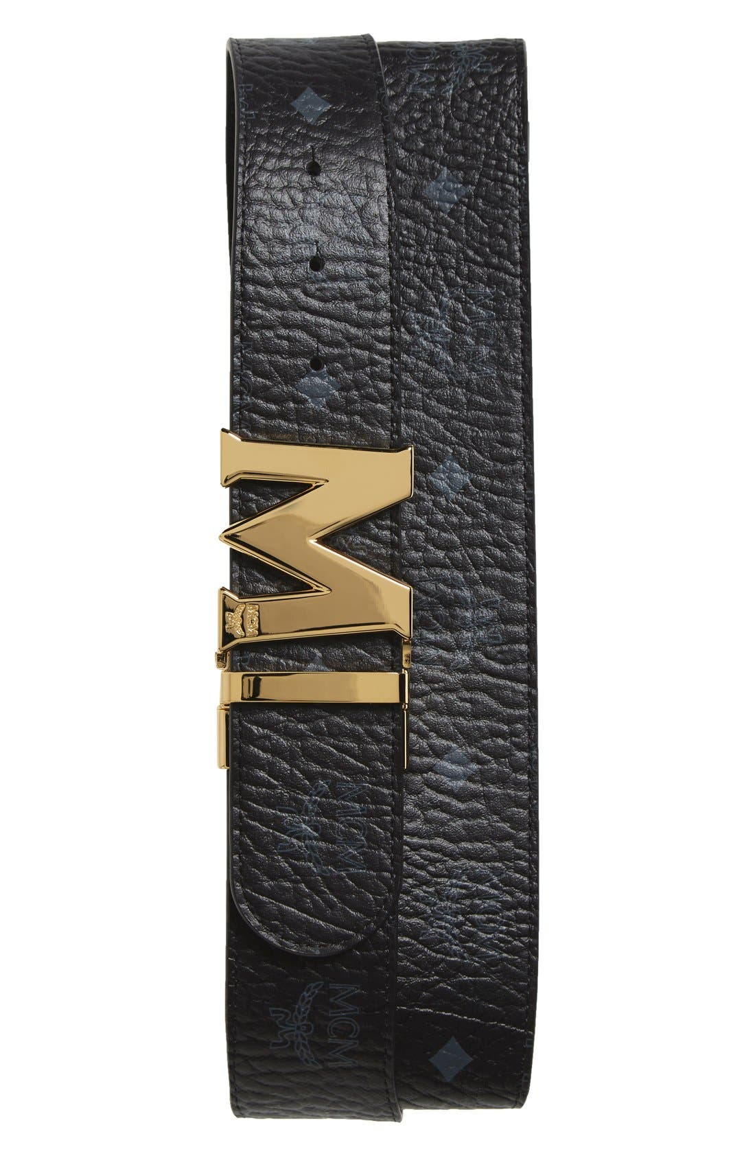 MCM Vistos Leather Belt