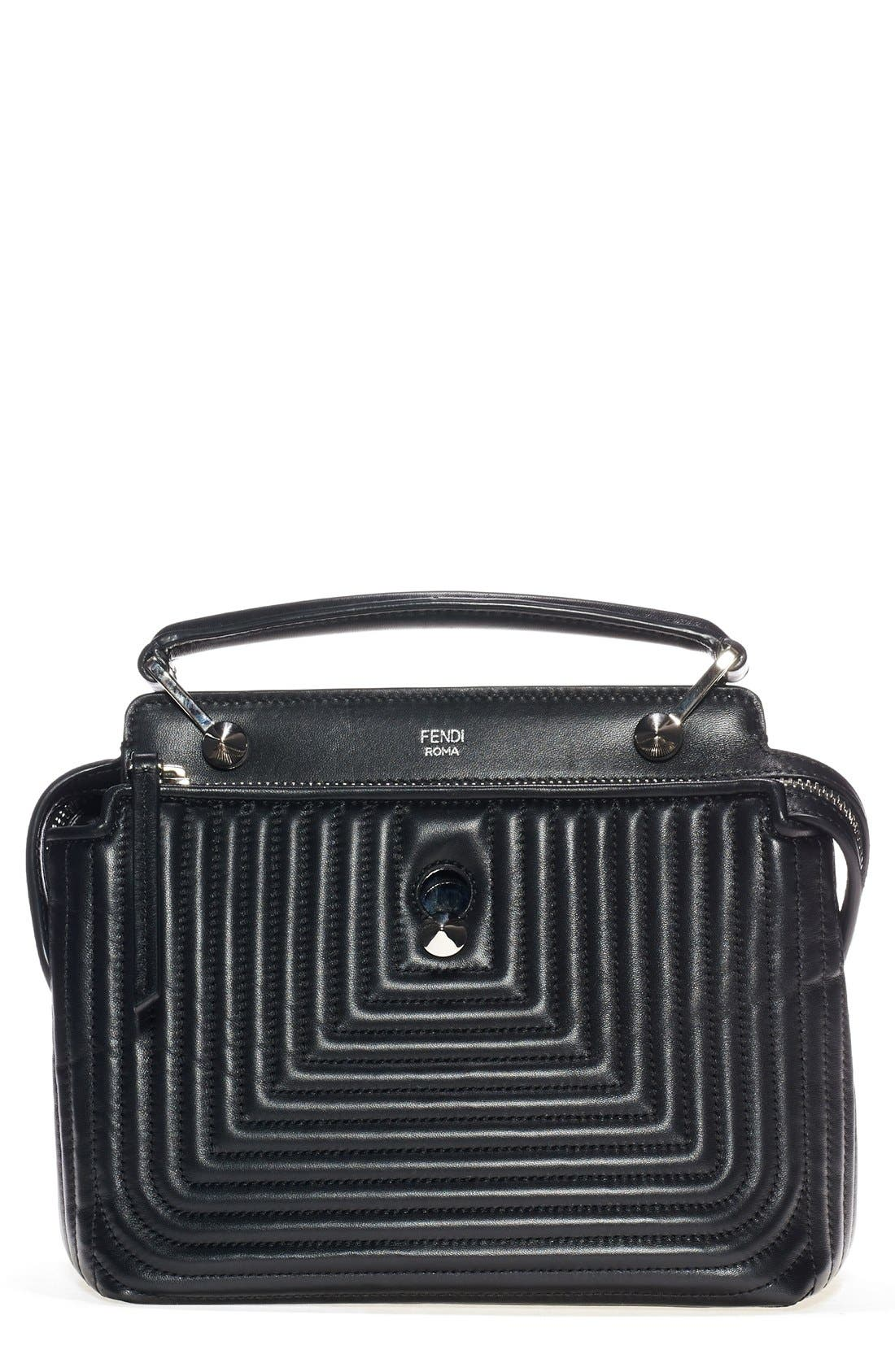 Alternate Image 1 Selected - Fendi 'DOTCOM Click' Quilted Leather Satchel