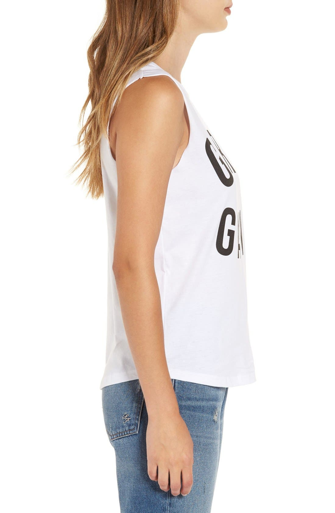 Alternate Image 3  - Missguided 'Girl Gang' Cotton Muscle Tee