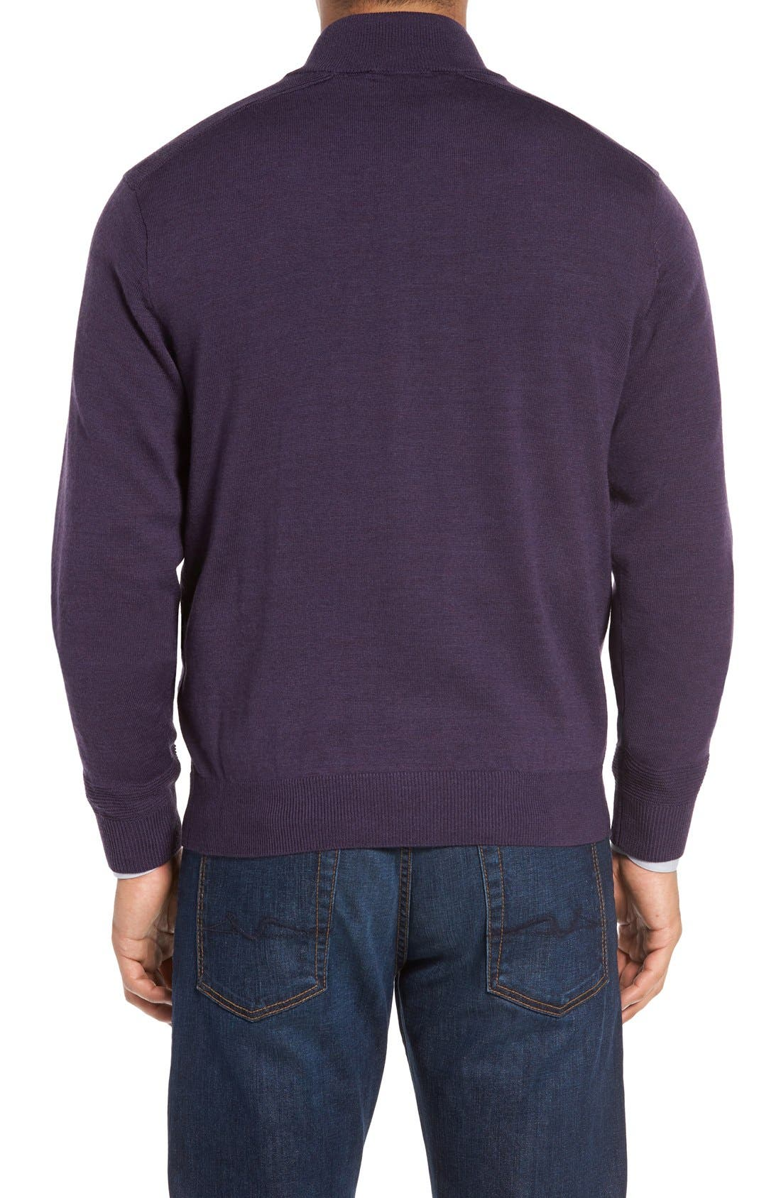 Alternate Image 2  - Cutter & Buck Douglas Quarter Zip Wool Blend Sweater