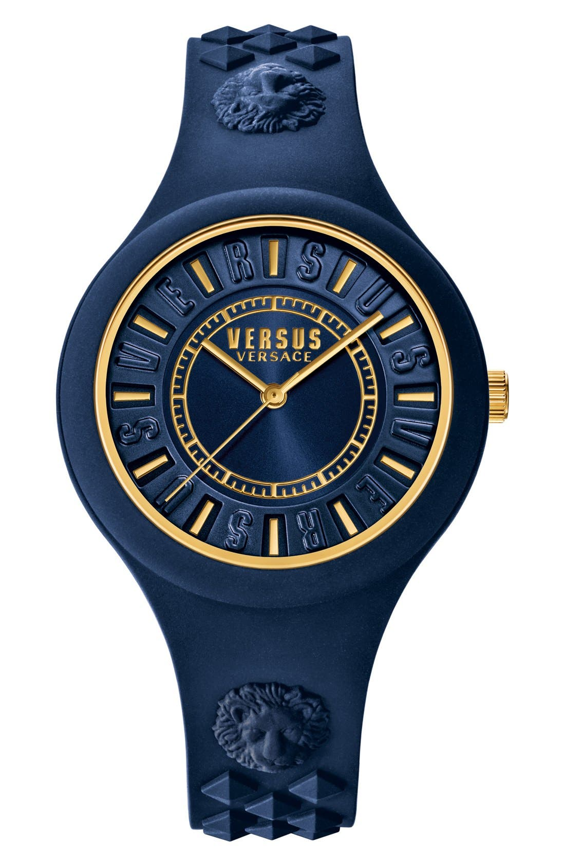 VERSUS by Versace 'Fire Island' Silicone Strap Watch, 39mm