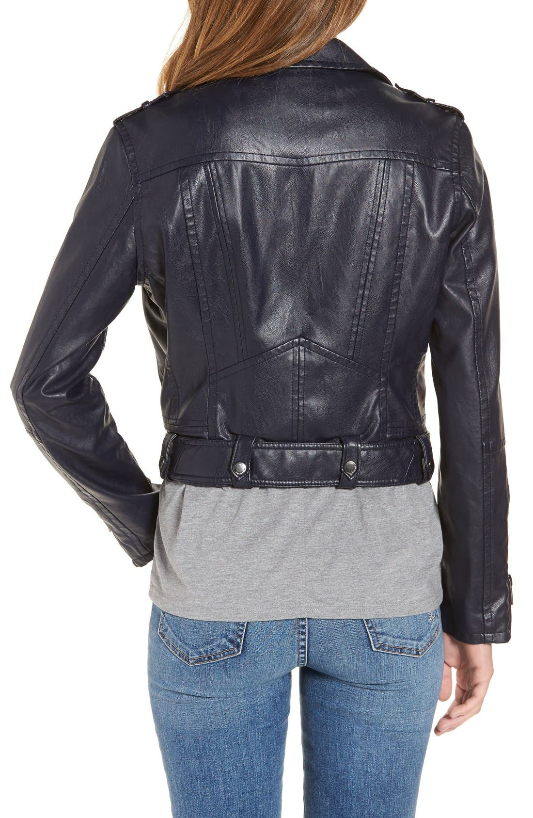 Alternate Image 2  - BLANKNYC Faux Leather Crop Moto Jacket
