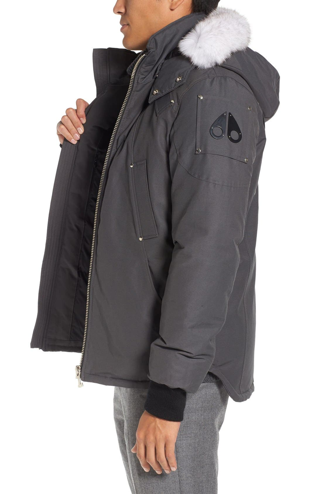 Alternate Image 3  - Moose Knuckles Down Coat with Genuine Fox Fur Trim
