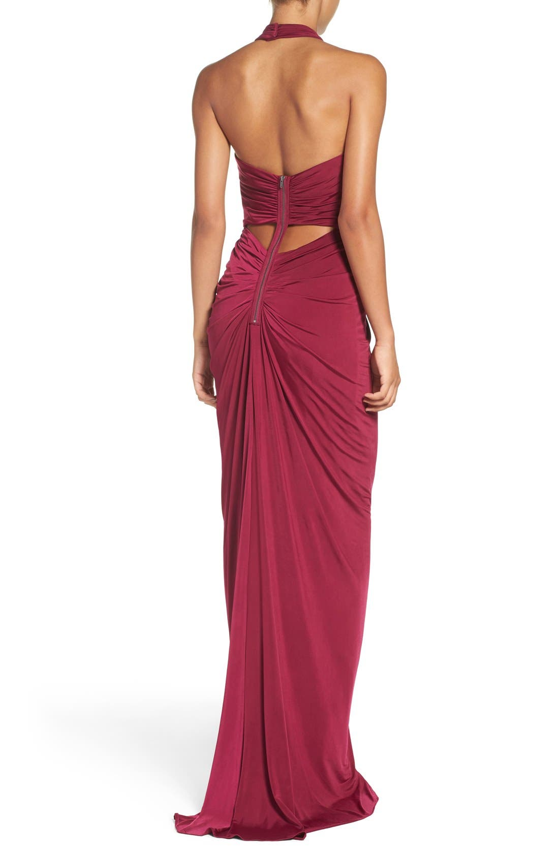 Alternate Image 2  - Adrianna Papell Jersey Halter Dress (Regular & Petite)