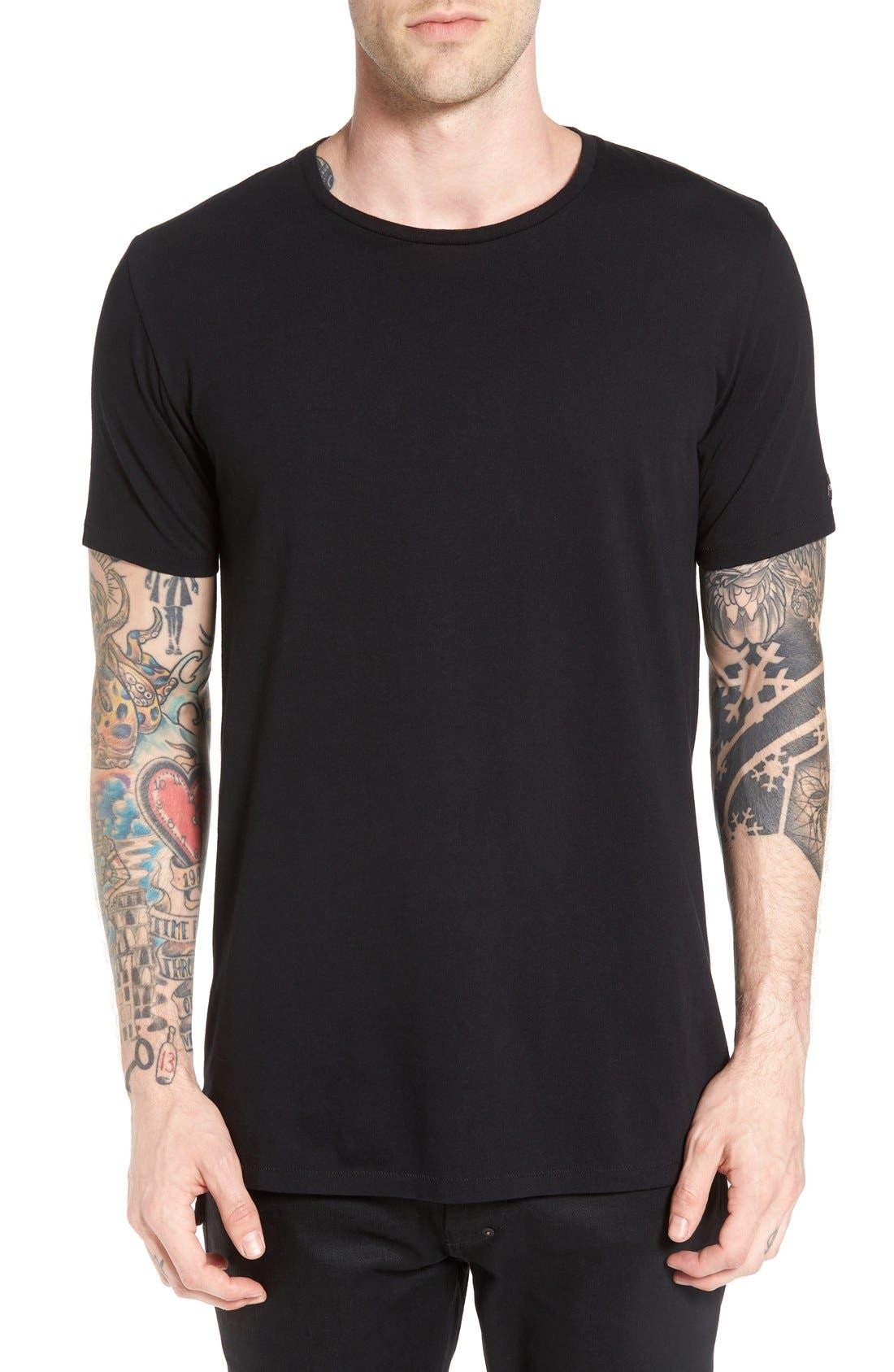 Flintlock Longline T-Shirt,                             Main thumbnail 1, color,                             Black