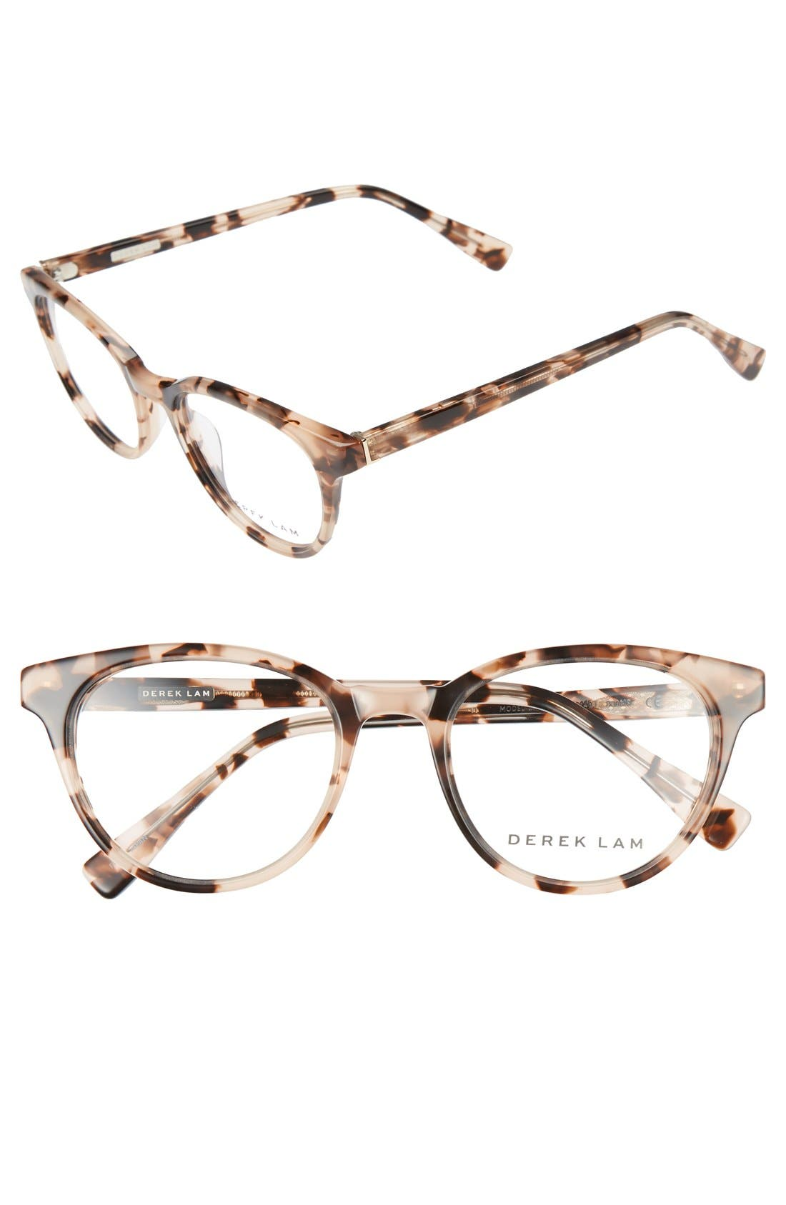 50mm Optical Glasses,                         Main,                         color, Peach Marble