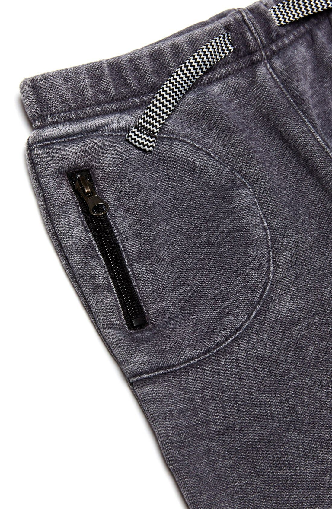 Quilted Jogger Pants,                             Alternate thumbnail 3, color,                             Grey