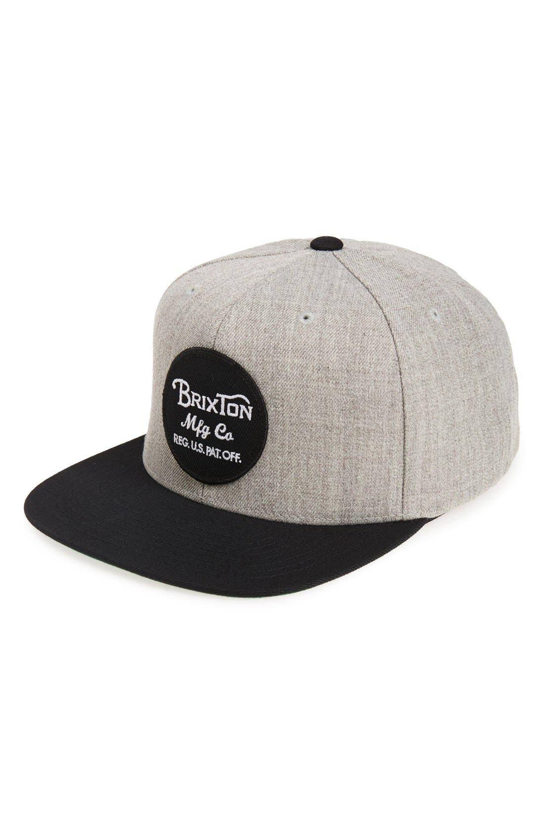 Main Image - Brixton 'Wheeler' Snapback Cap