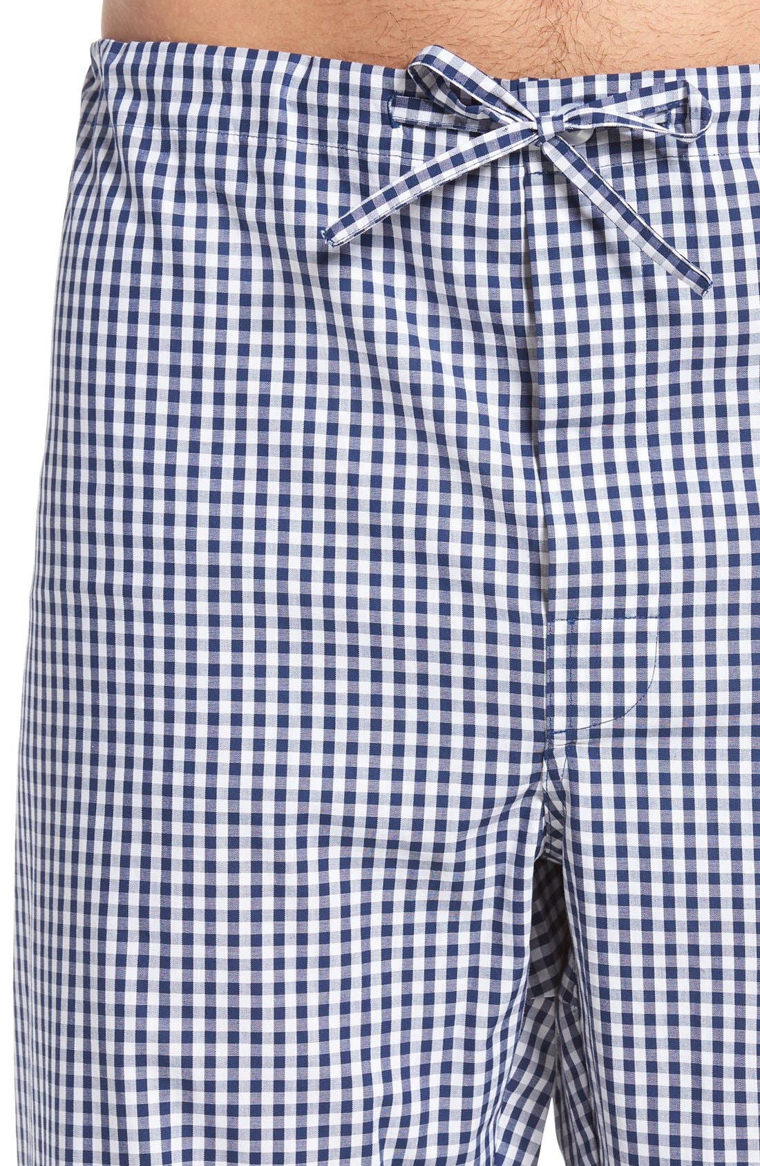 'Hot & Cold' Pajamas,                             Alternate thumbnail 4, color,                             Blue Gingham