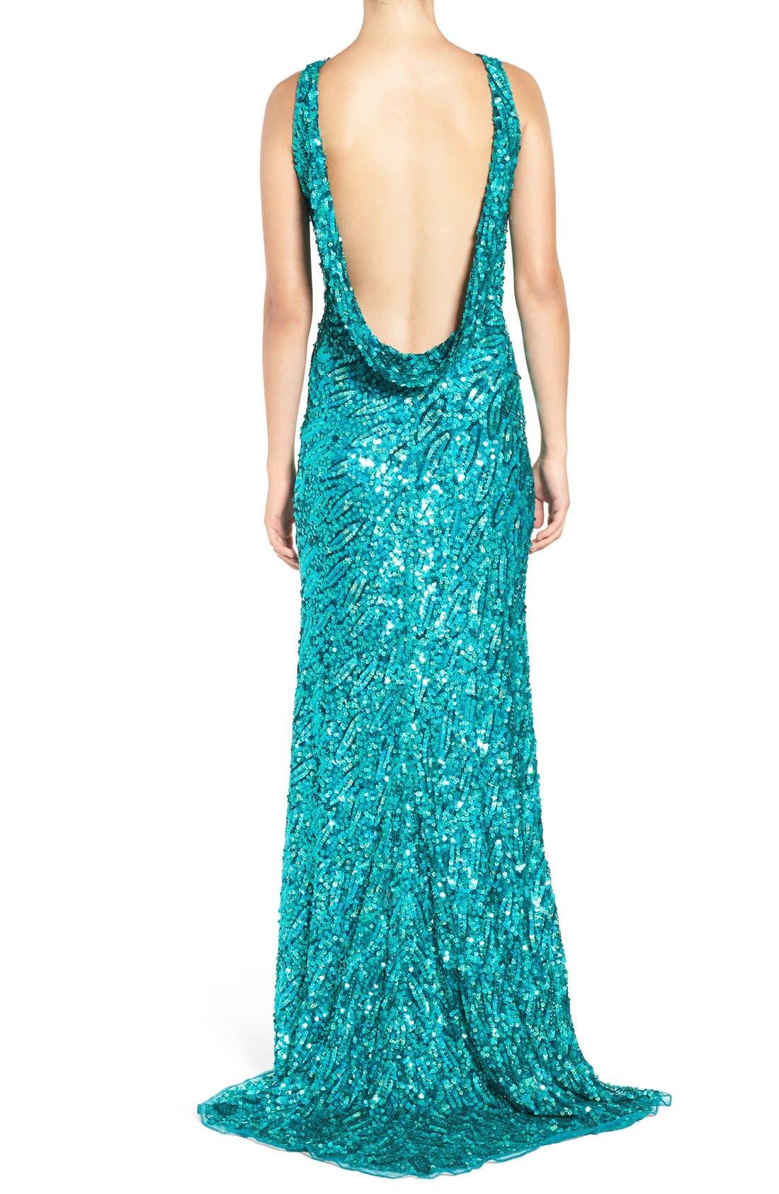 Alternate Image 2  - Mac Duggal Sequin Body-Con Gown