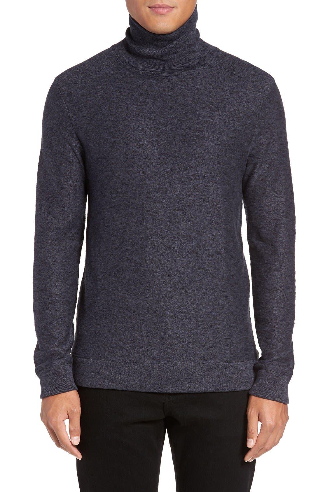 Turtleneck Sweater,                         Main,                         color, Navy