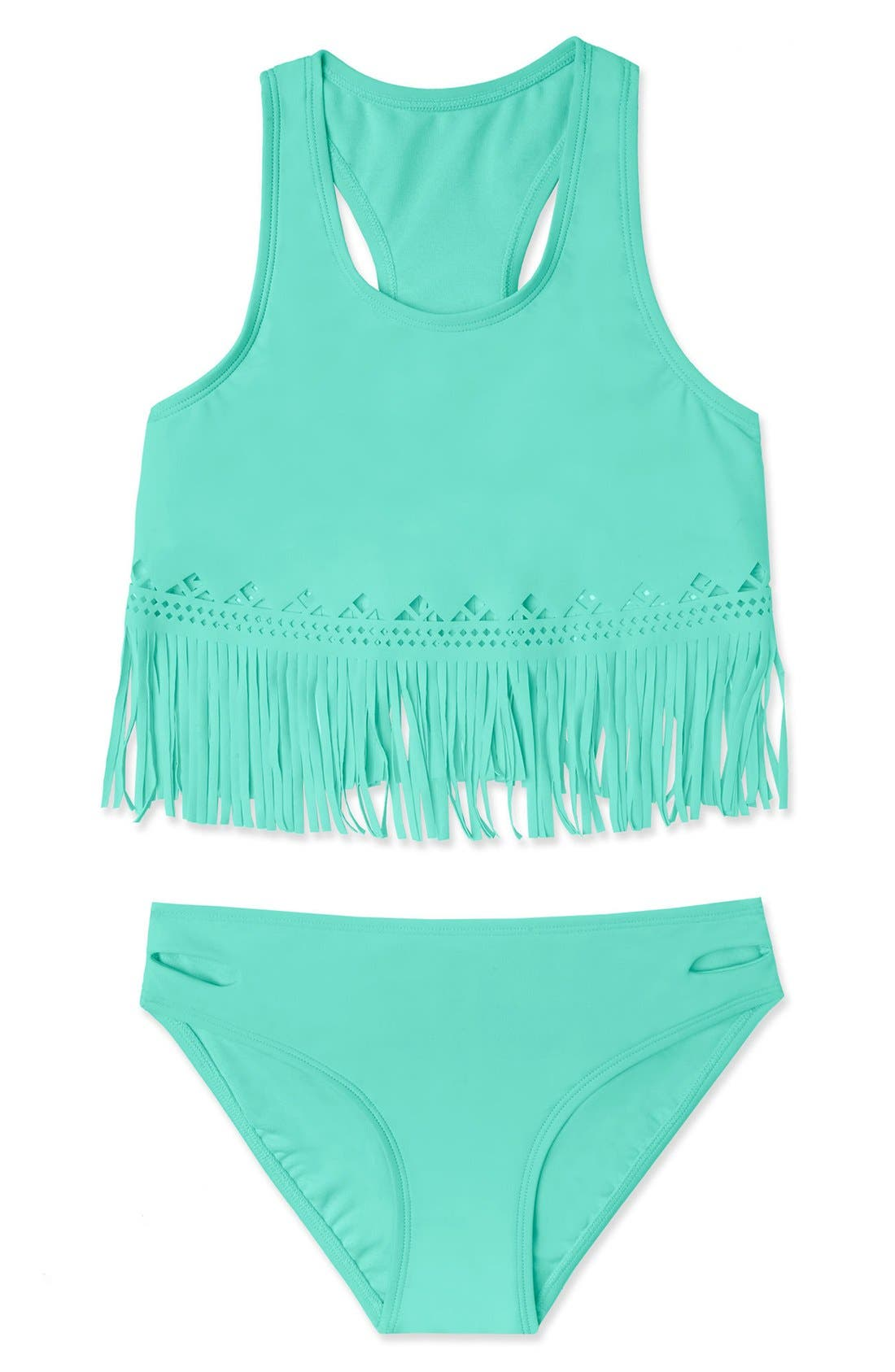 Gossip Girl 'Festival Fringe' Two-Piece Swimsuit (Big Girls)