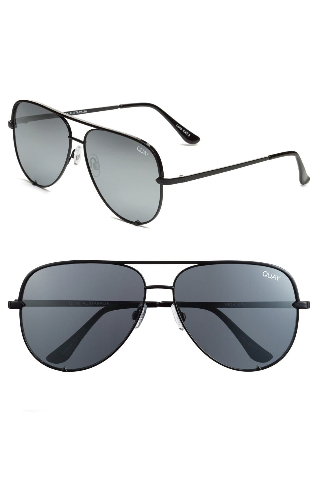 Quay Australia x Desi Perkins 'High Key' 62mm Aviator Sunglasses