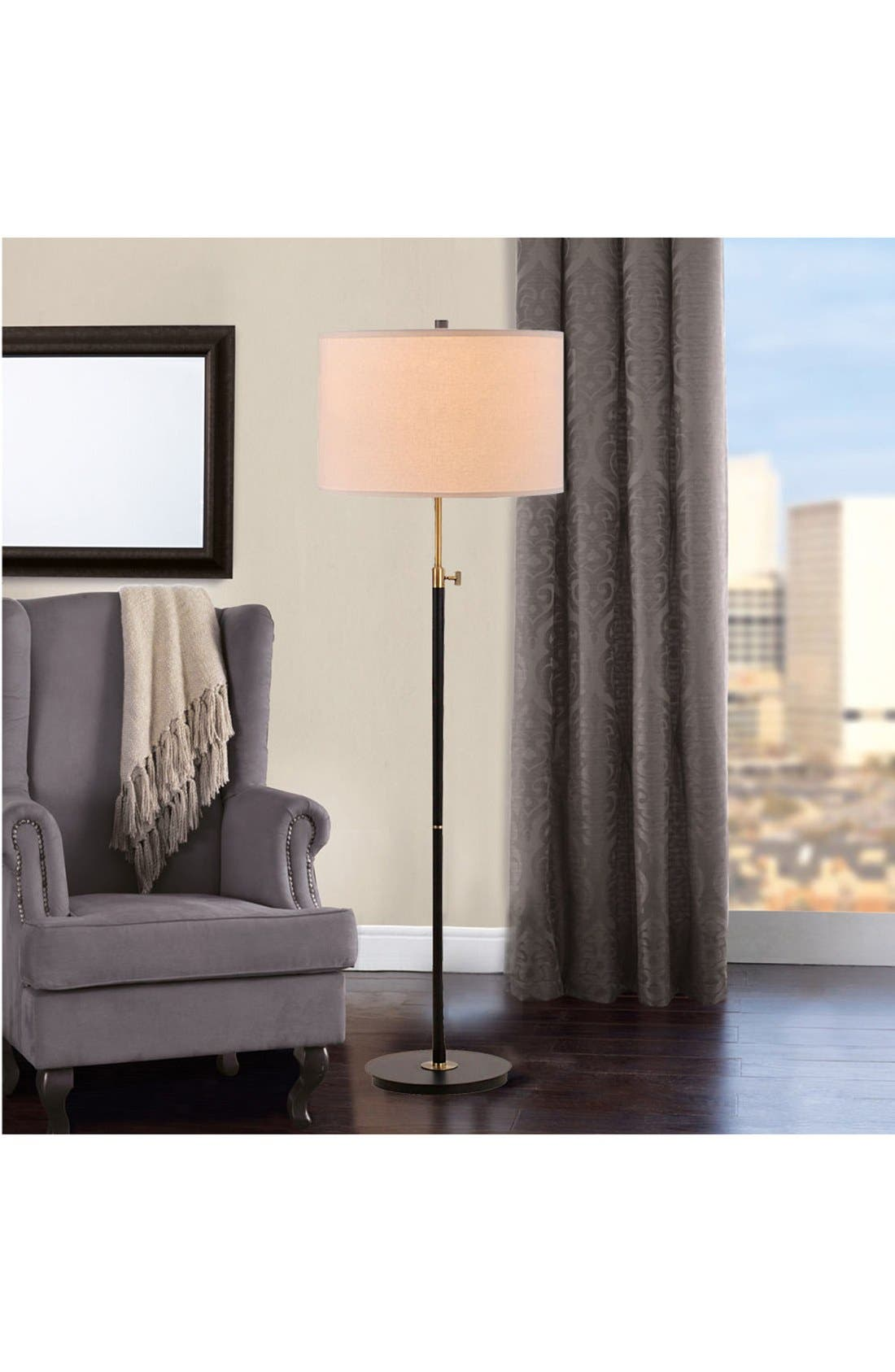 JAlexander Adjustable Floor Lamp,                             Alternate thumbnail 2, color,                             Black