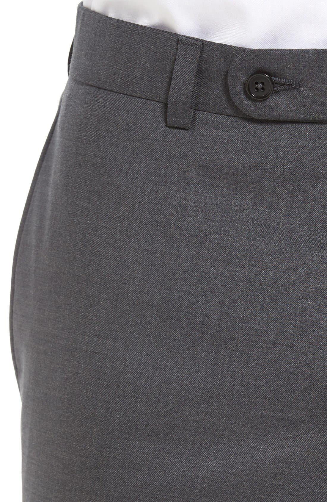 Ryan Regular Fit Wool Trousers,                             Alternate thumbnail 4, color,                             Charcoal
