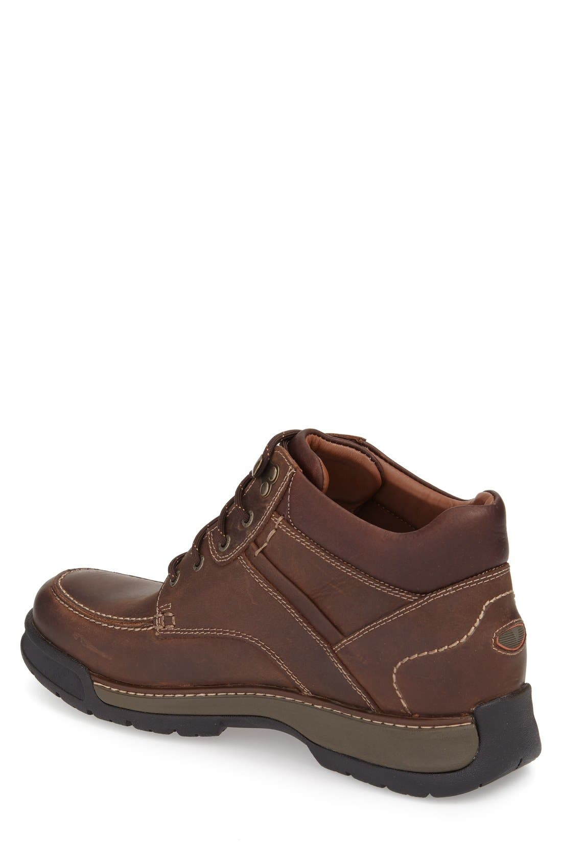 Waterproof Moc Toe Boot,                             Alternate thumbnail 2, color,                             Tan