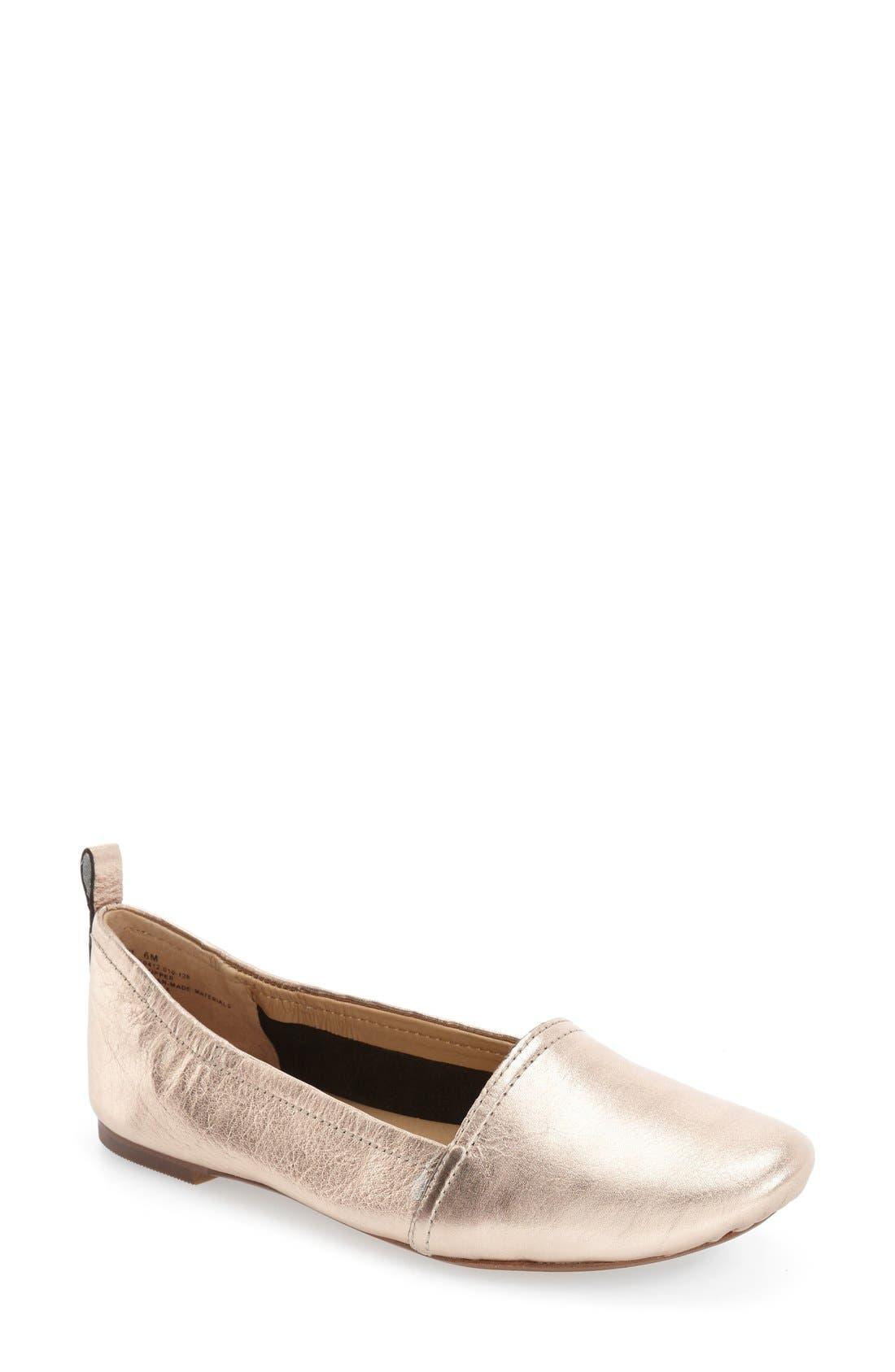 Alternate Image 1 Selected - Latigo 'Bettie' Leather Flat (Women)