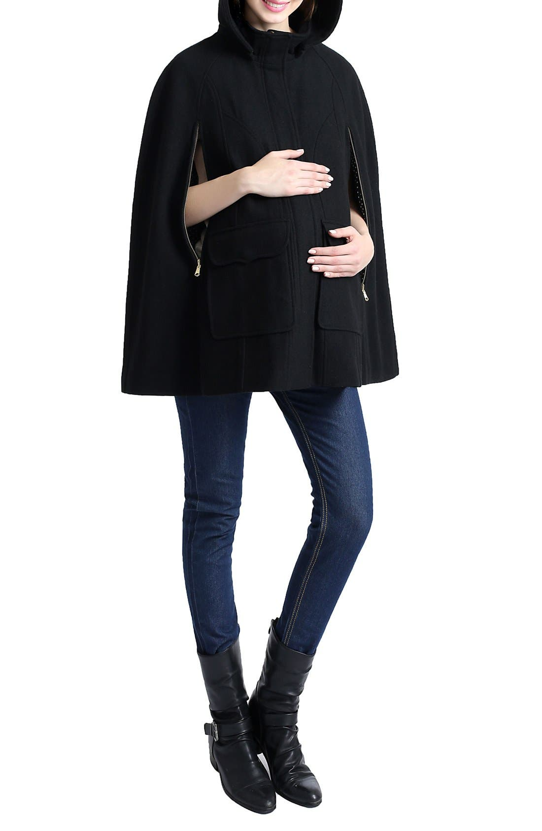 Alternate Image 4  - Kimi and Kai 'Robin' Wool Blend Maternity Cape