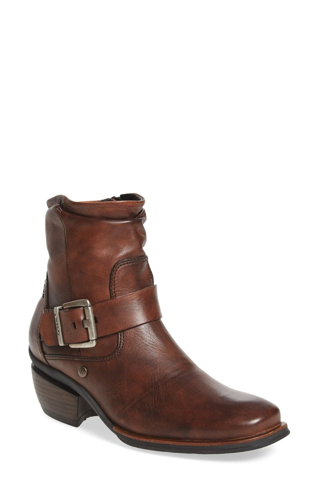 'Koppen' Bootie,                         Main,                         color, Cognac Mighty Greased Leather