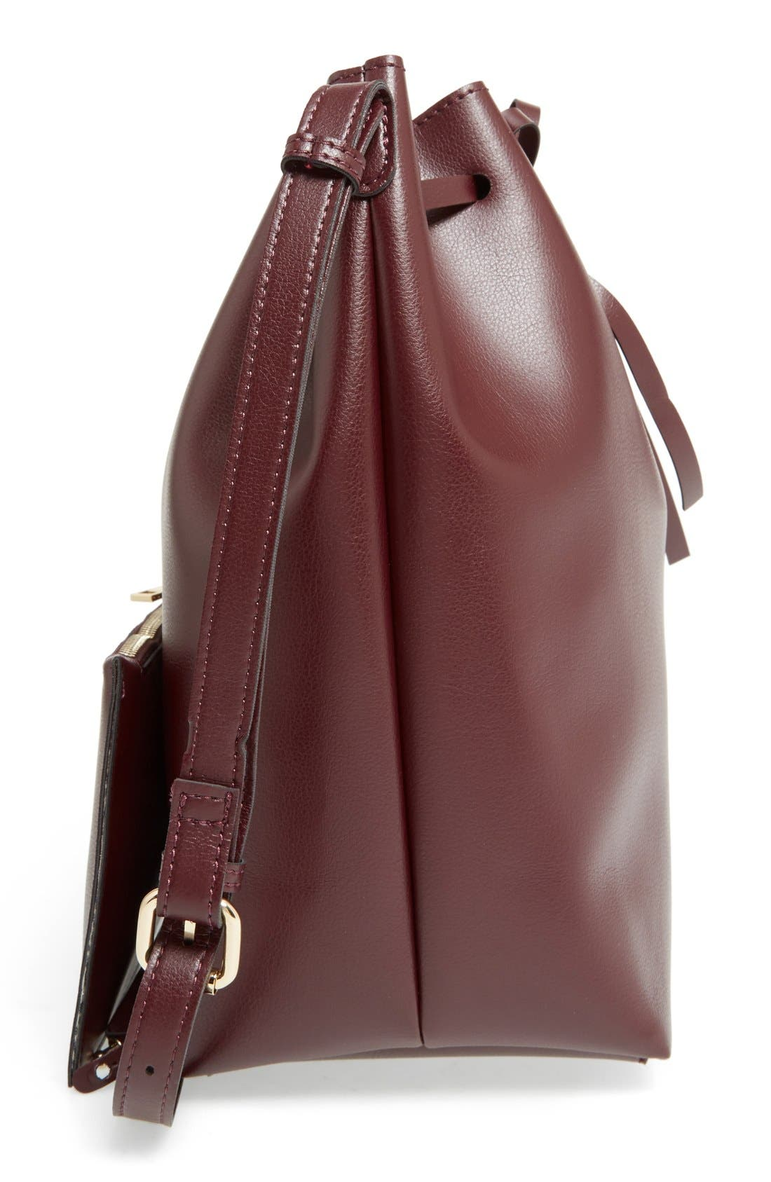 Alternate Image 5  - Sole Society 'Blackwood' Faux Leather Bucket Bag