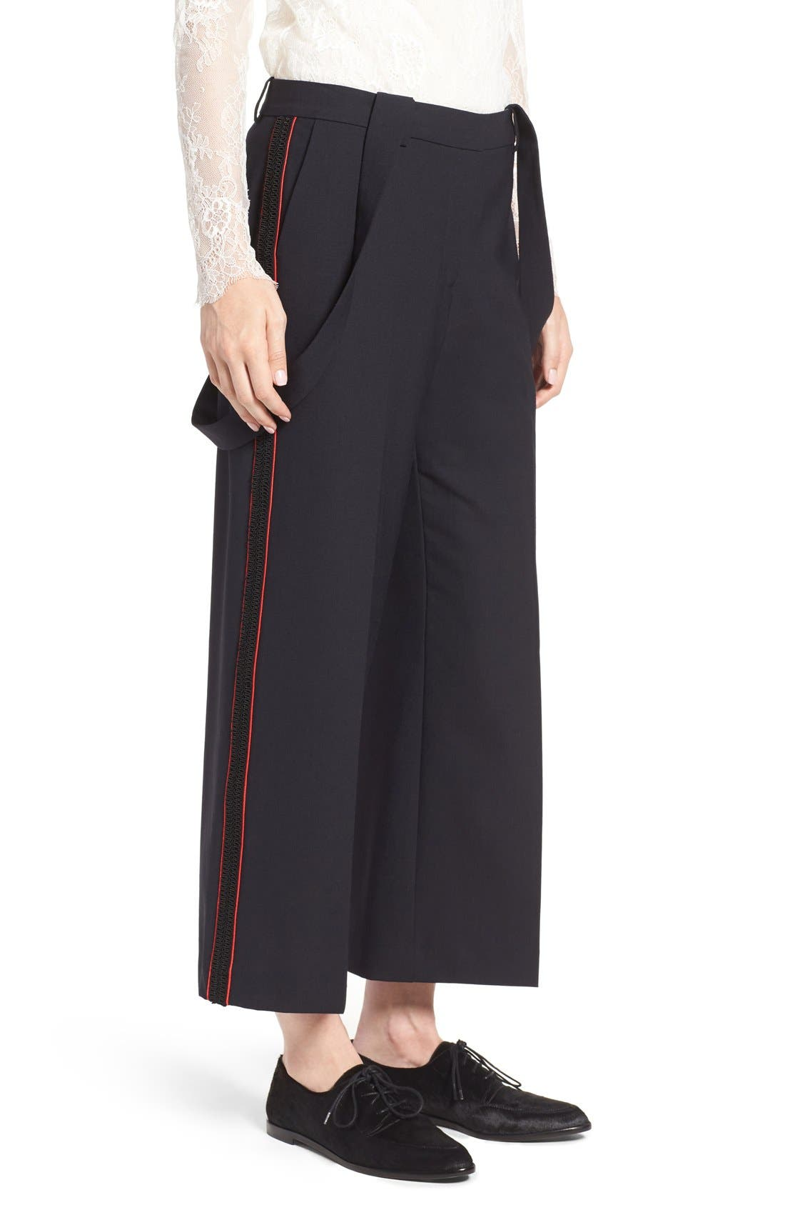 Alternate Image 5  - Olivia Palermo + Chelsea28 High Rise Crop Suspender Pants
