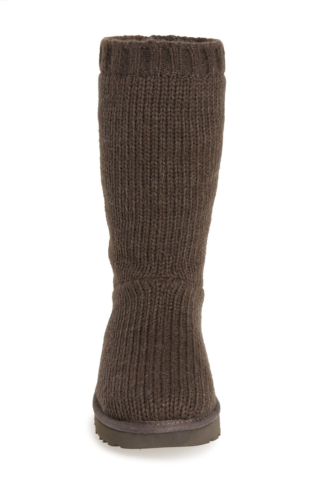 Alternate Image 3  - UGG® 'Capra' Ribbed Knit Genuine Shearling Lined Boot (Women)