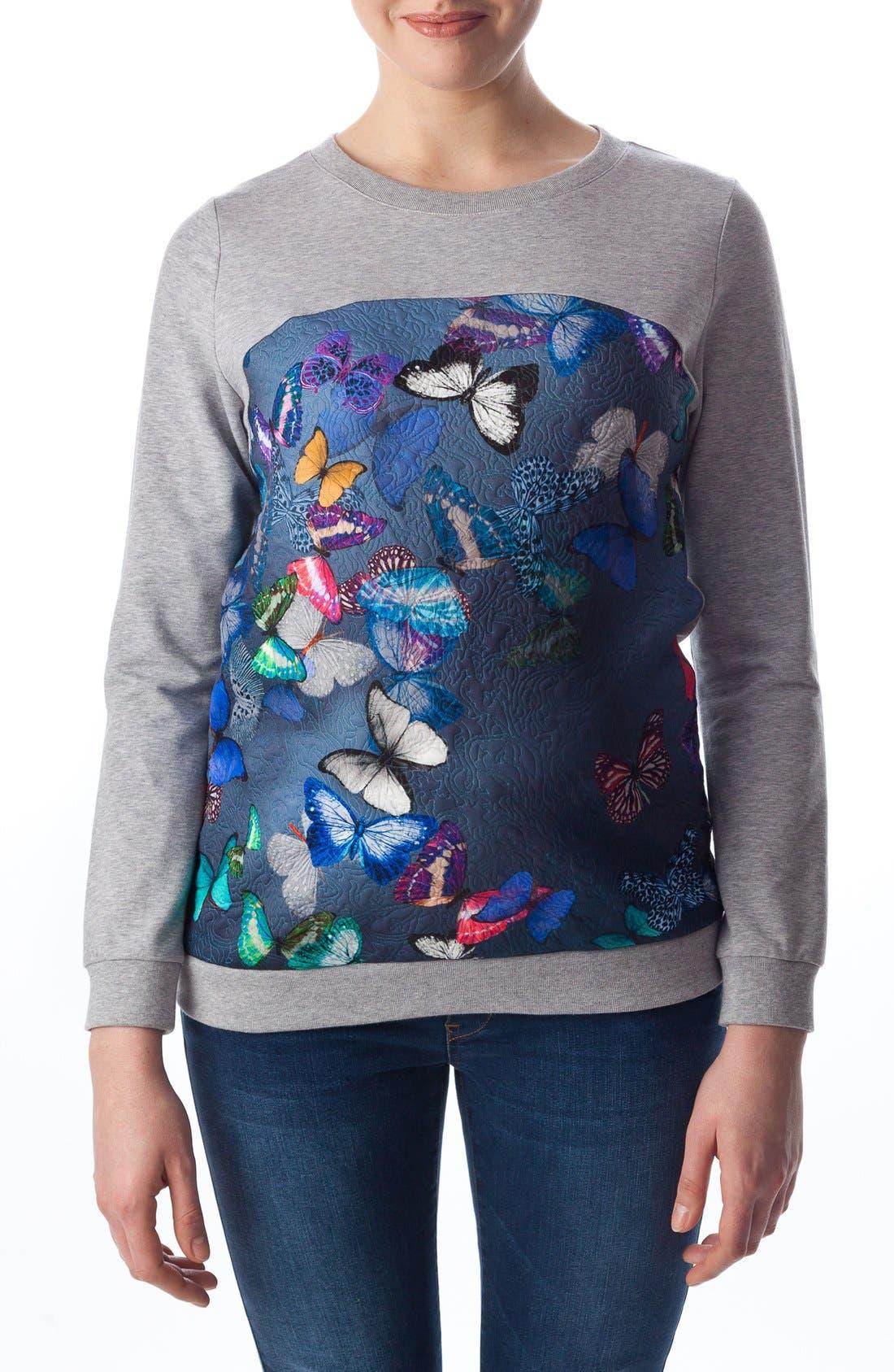 Main Image - PIETRO BRUNELLI 'Santa Monica' Maternity Sweatshirt