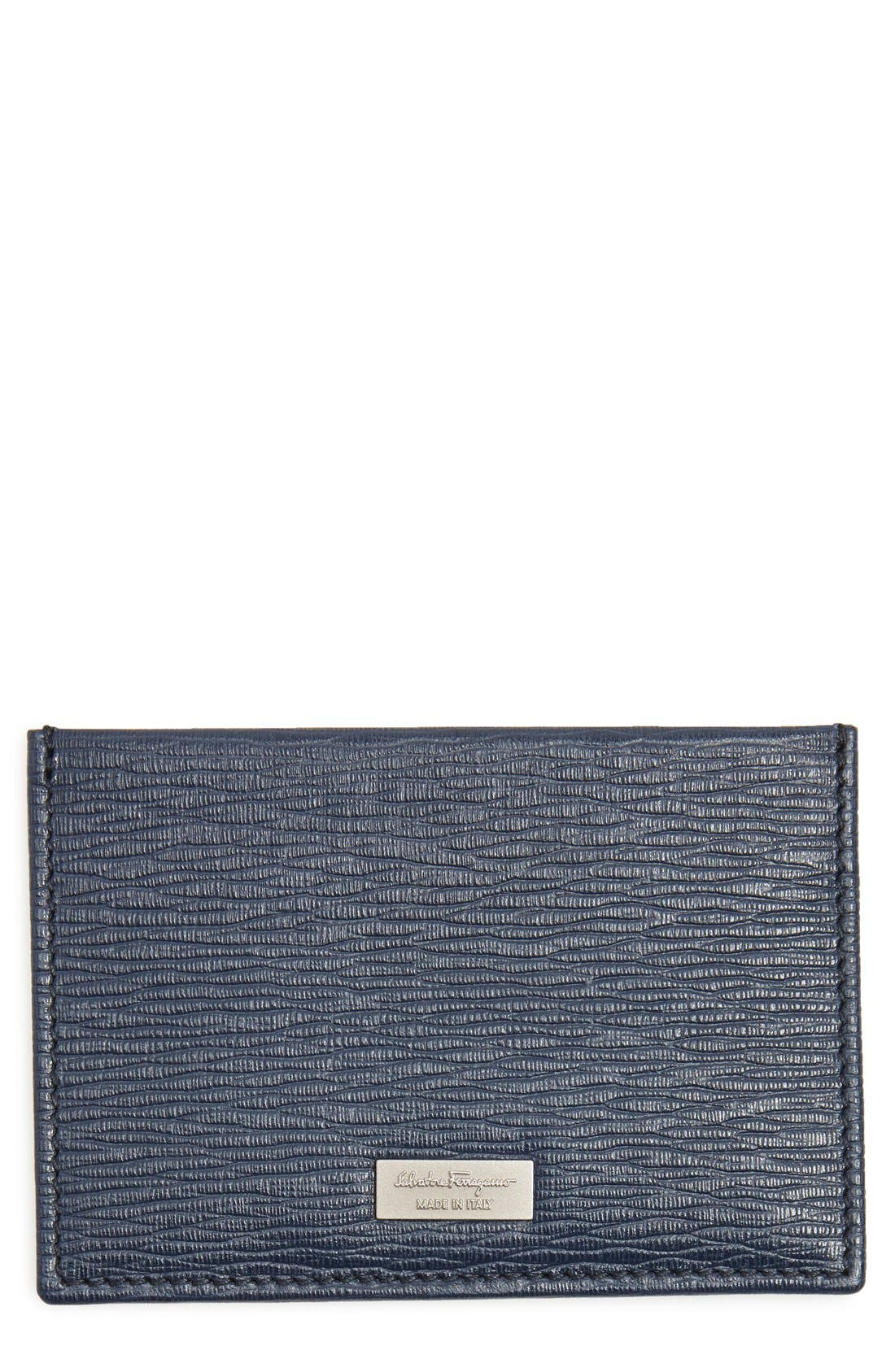 Alternate Image 1 Selected - Salvatore Ferragamo 'New Revival' Leather Card Case