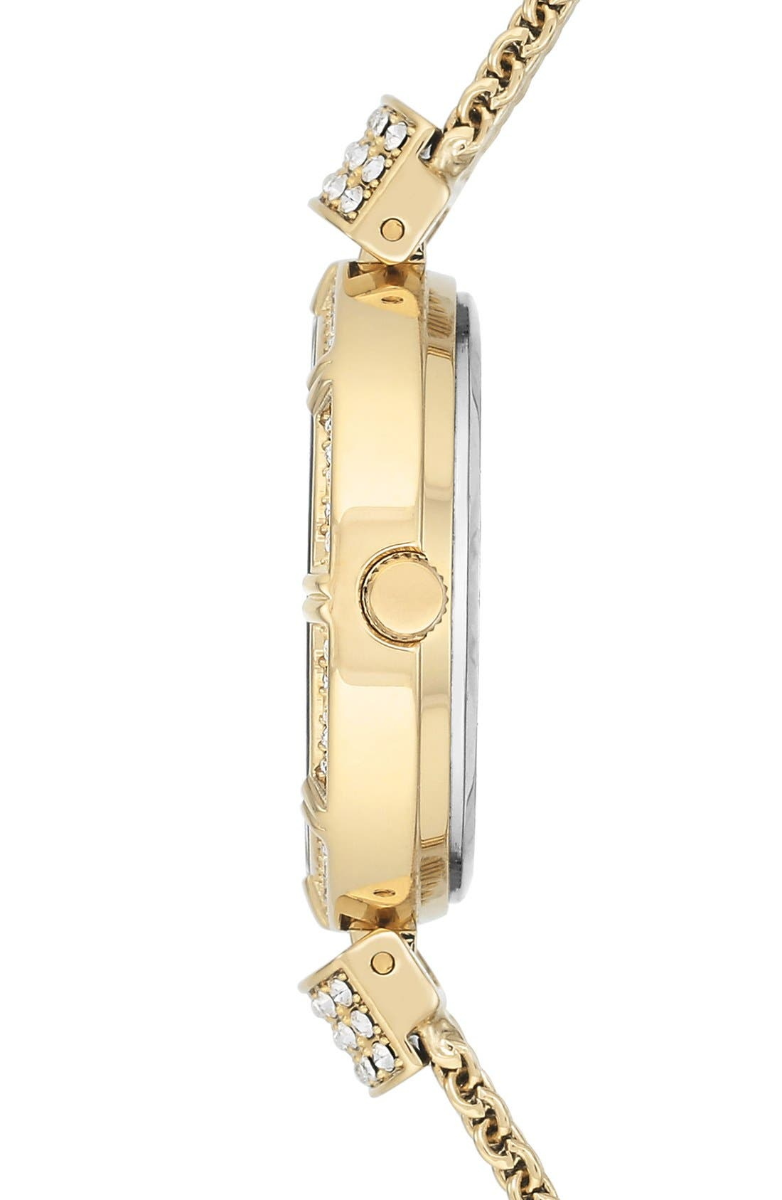 Watch & Bangle Set, 28mm,                             Alternate thumbnail 3, color,                             Gold/ Mother Of Pearl