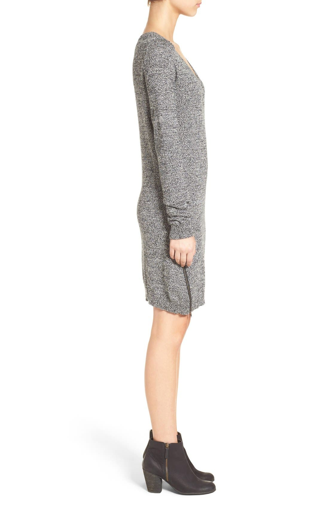 Alternate Image 3  - BP. Zip Detail Sweater Dress
