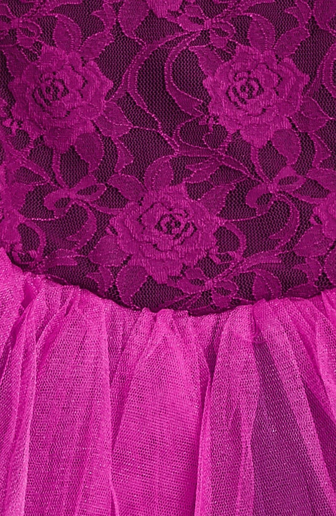 Lace Tutu Dress,                             Alternate thumbnail 2, color,                             Purple