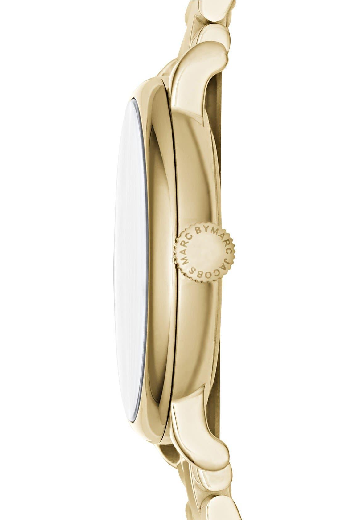 Alternate Image 2  - MARC JACOBS Baker Crystal Index Bracelet Watch, 36mm