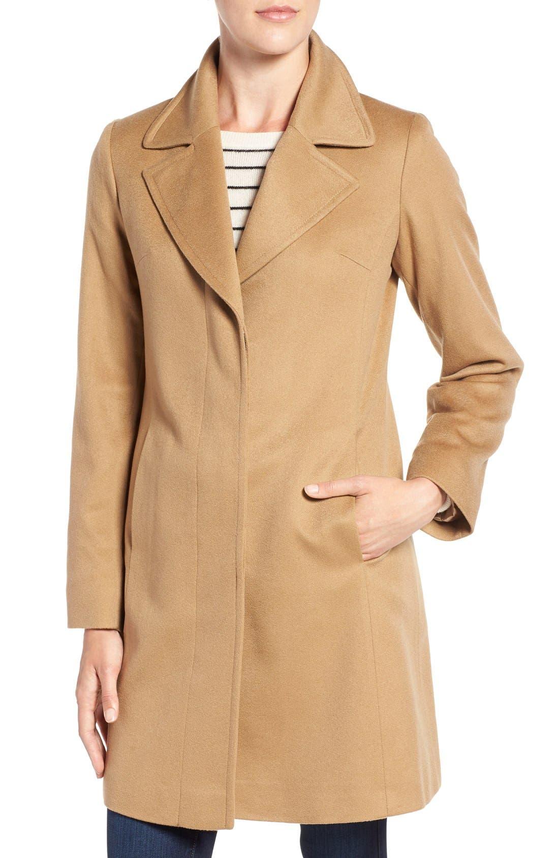 Alternate Image 4  - Fleurette Notch Collar Lightweight Cashmere Coat