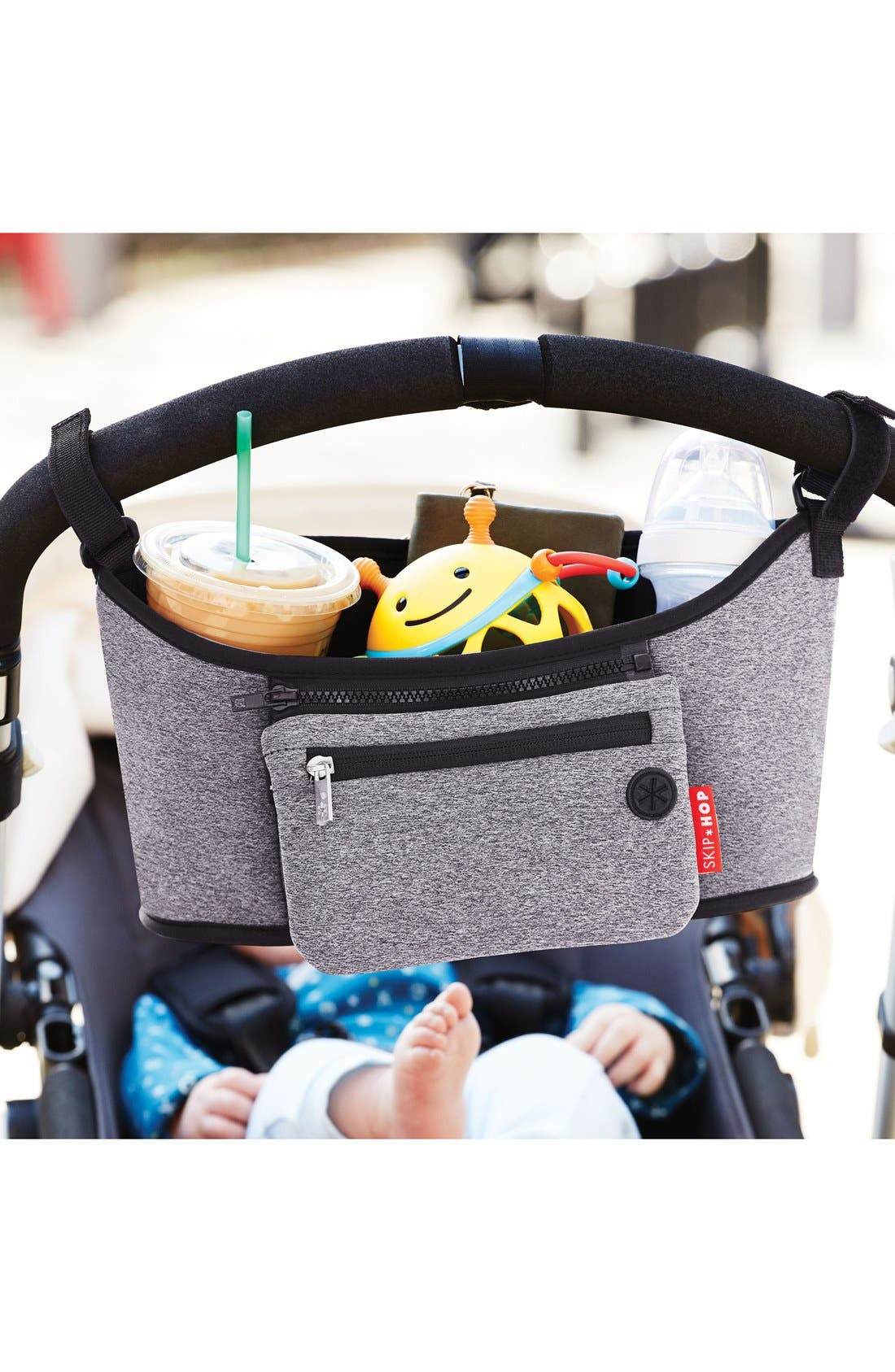 'Grab & Go' Stroller Organizer,                             Alternate thumbnail 2, color,                             Heather Grey