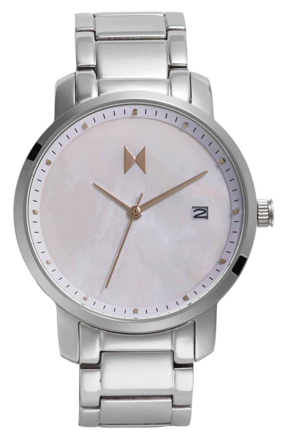 Bracelet Watch, 38mm,                         Main,                         color, Silver/ Pearl