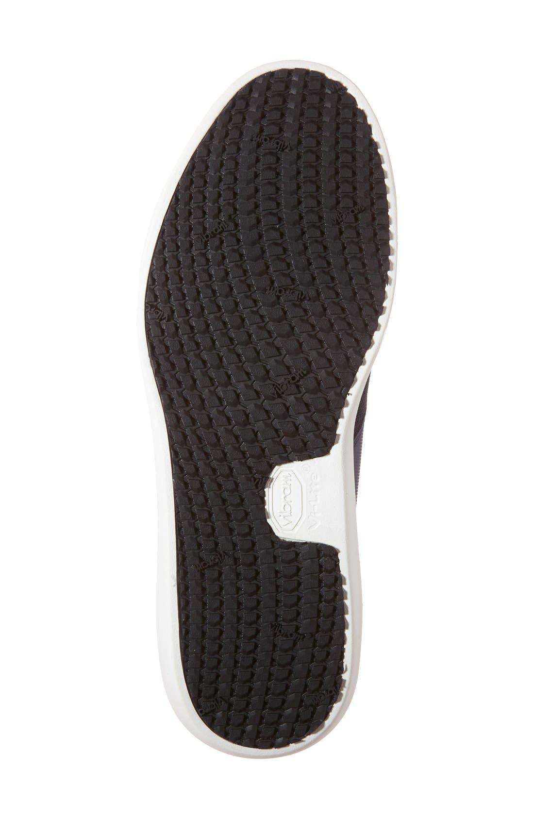 Deross Sneaker,                             Alternate thumbnail 5, color,                             Navy Leather