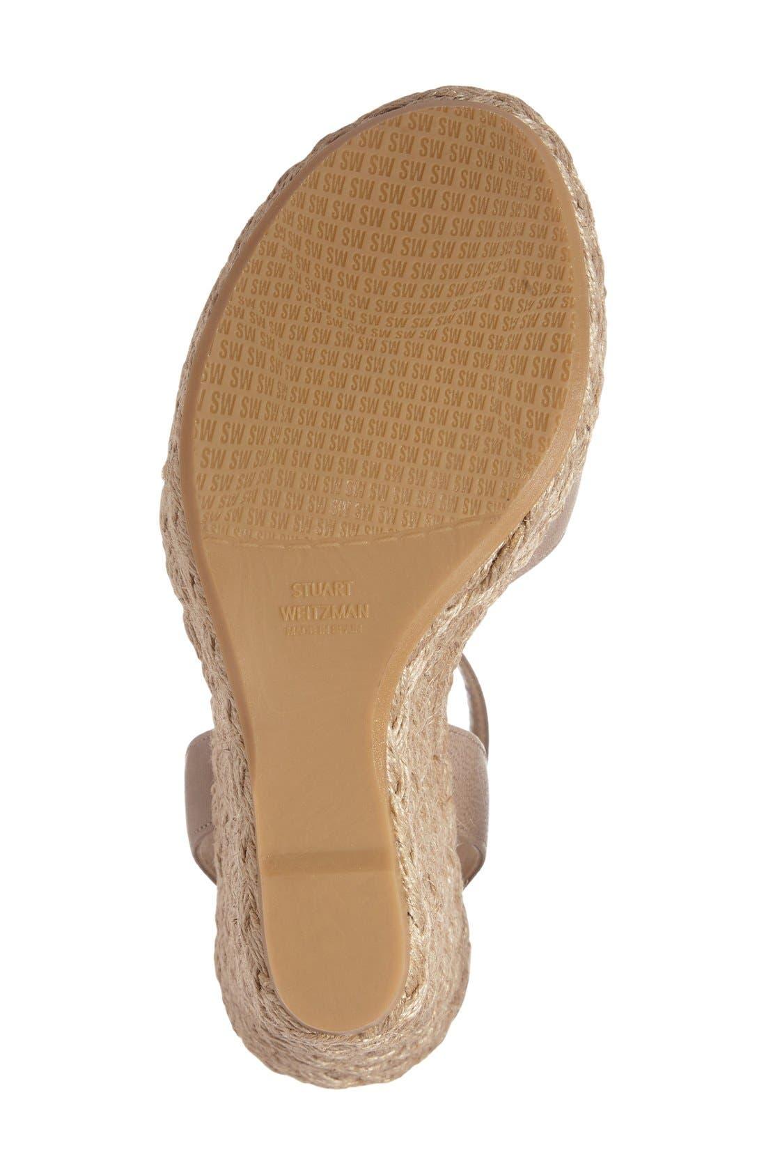 Alternate Image 4  - Stuart Weitzman 'Hijinx' Espadrille Platform Wedge Sandal (Women)