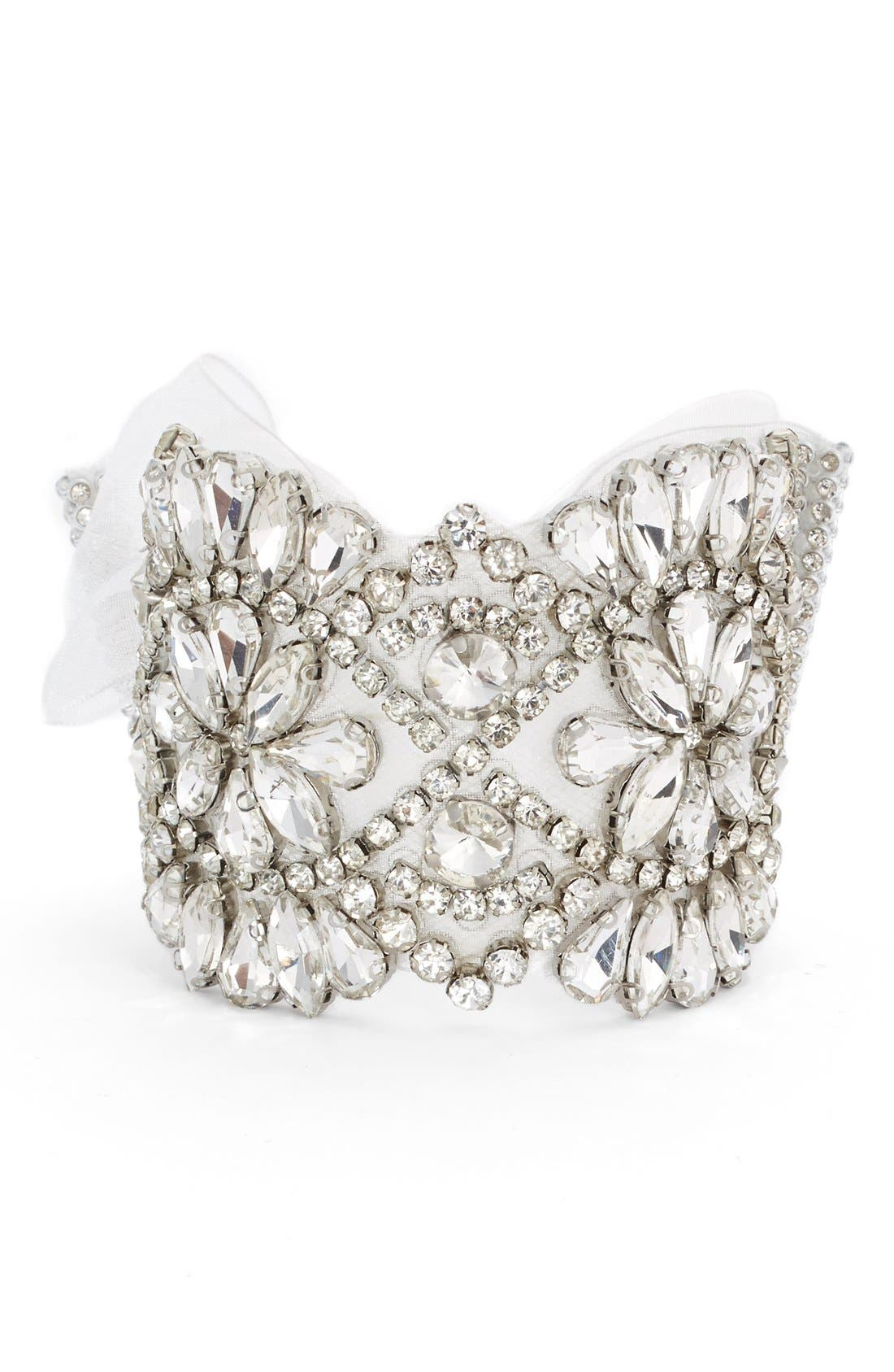 Alternate Image 1 Selected - Nina Crystal Tie Bracelet
