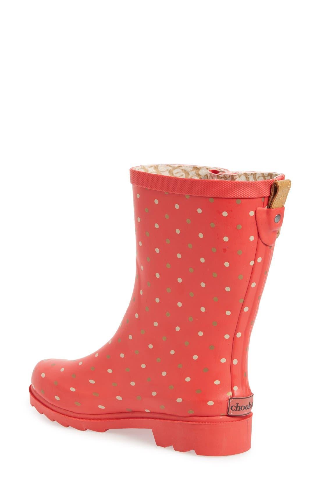 Alternate Image 2  - Chooka 'Classic Dot' Mid High Rain Boot (Women)