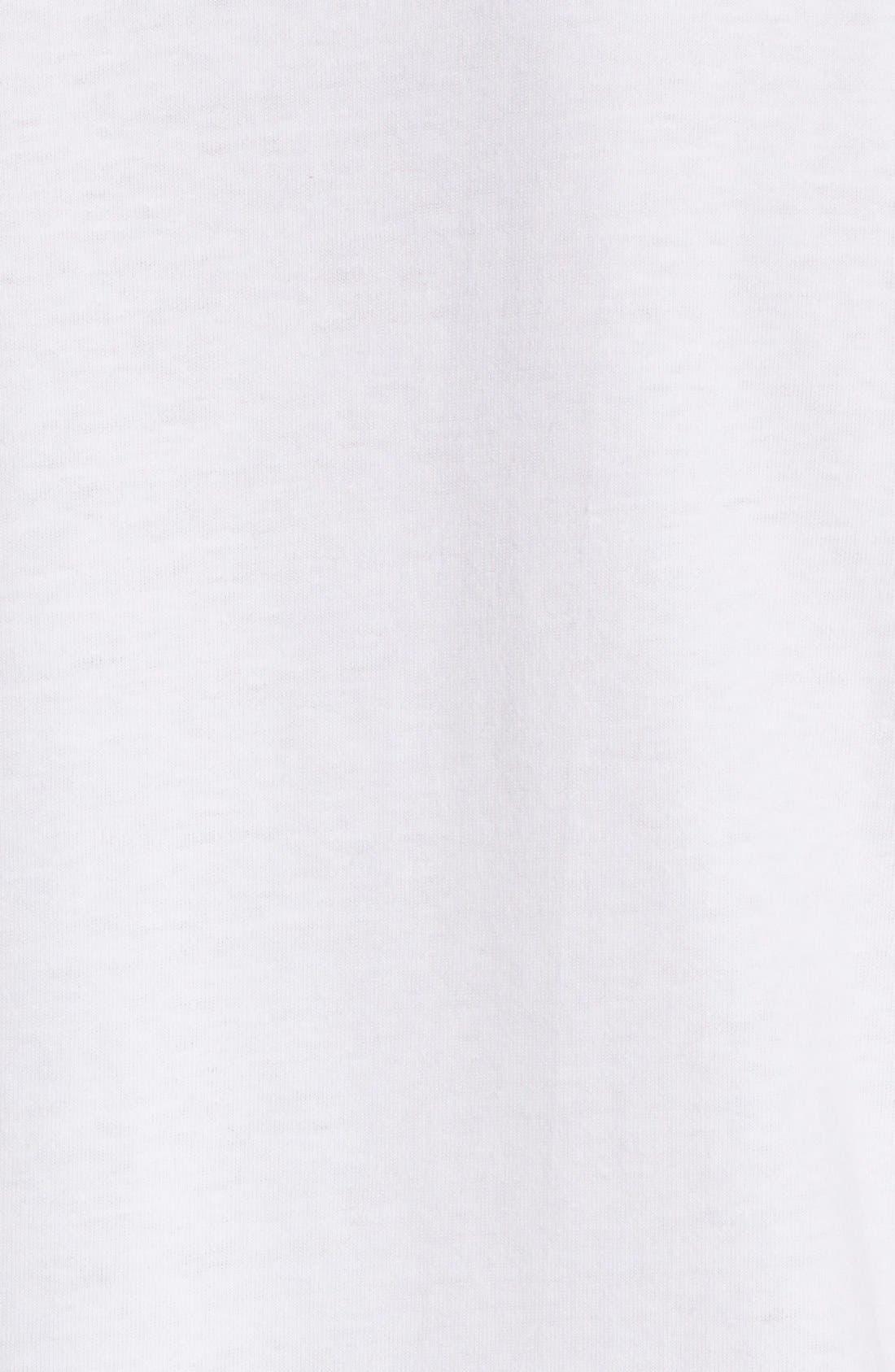 Comme des Garçons PLAY Heart Face Graphic T-Shirt,                             Alternate thumbnail 5, color,                             White