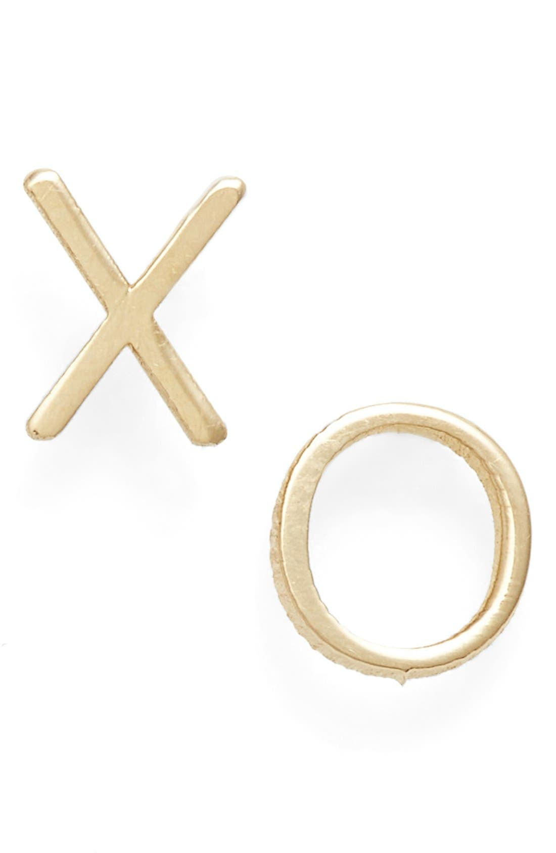Alternate Image 1 Selected - Poppy Finch 'XO' Stud Earrings