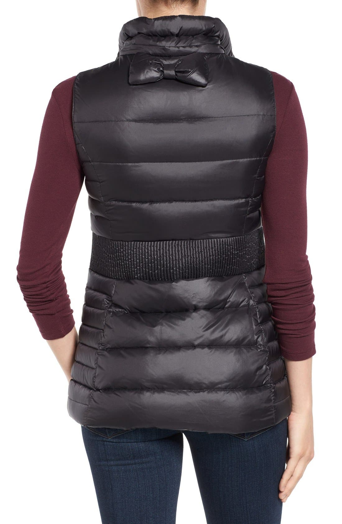 Alternate Image 2  - kate spade new york down vest with faux fur trim