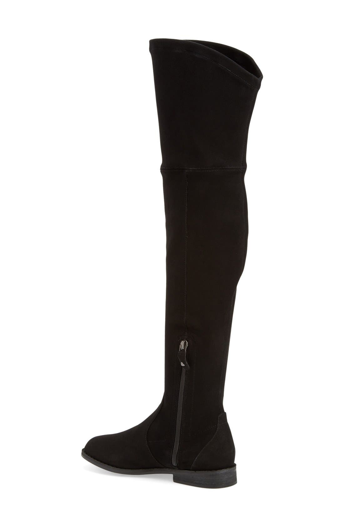 'Emma' Over the Knee Boot,                             Alternate thumbnail 2, color,                             Black Suede