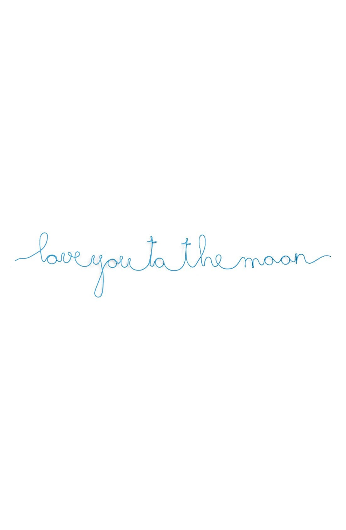 Main Image - Natural Life 'Love You to the Moon' Wire Wall Art