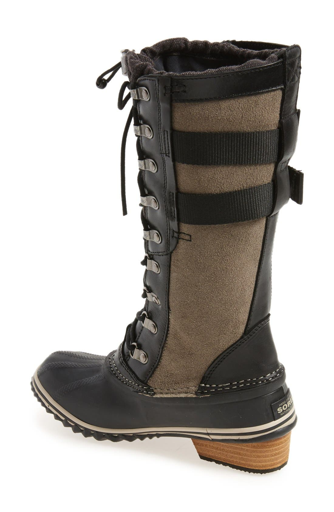 'Conquest Carly II' Waterproof Mid Calf Boot,                             Alternate thumbnail 2, color,                             Black
